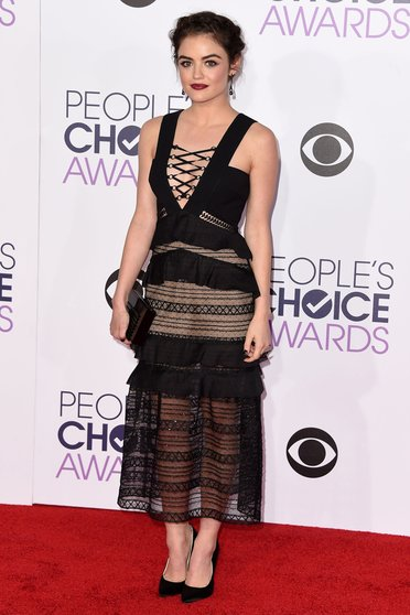 Lucy Hale at Peoples Choice Awards